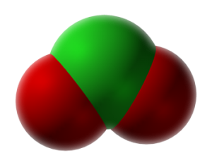 Chlorine Dioxide Molecule...